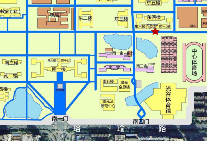 (2)华中科技大学校内地图   .
